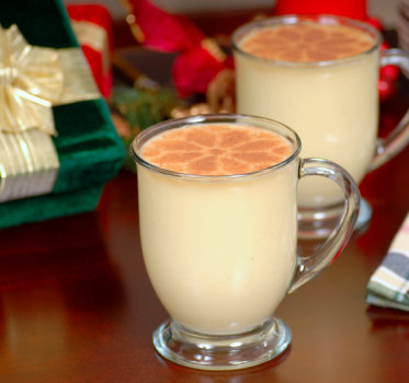 Ok, so this may not be the eggnog we made but I'd say it looked similar